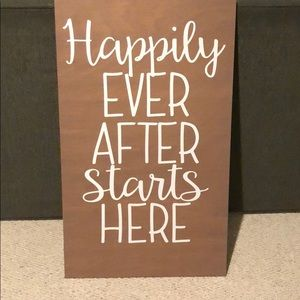 Other - Wedding Decor Wood Sign Wall Happily Ever After